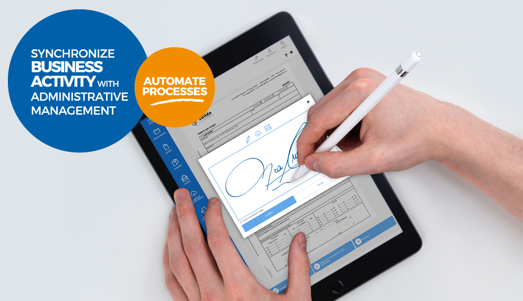 Synchronize business activity with administrative management