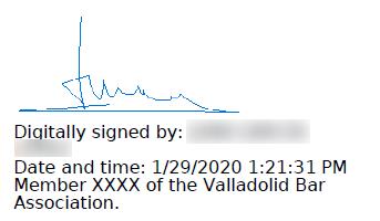 Signature customized