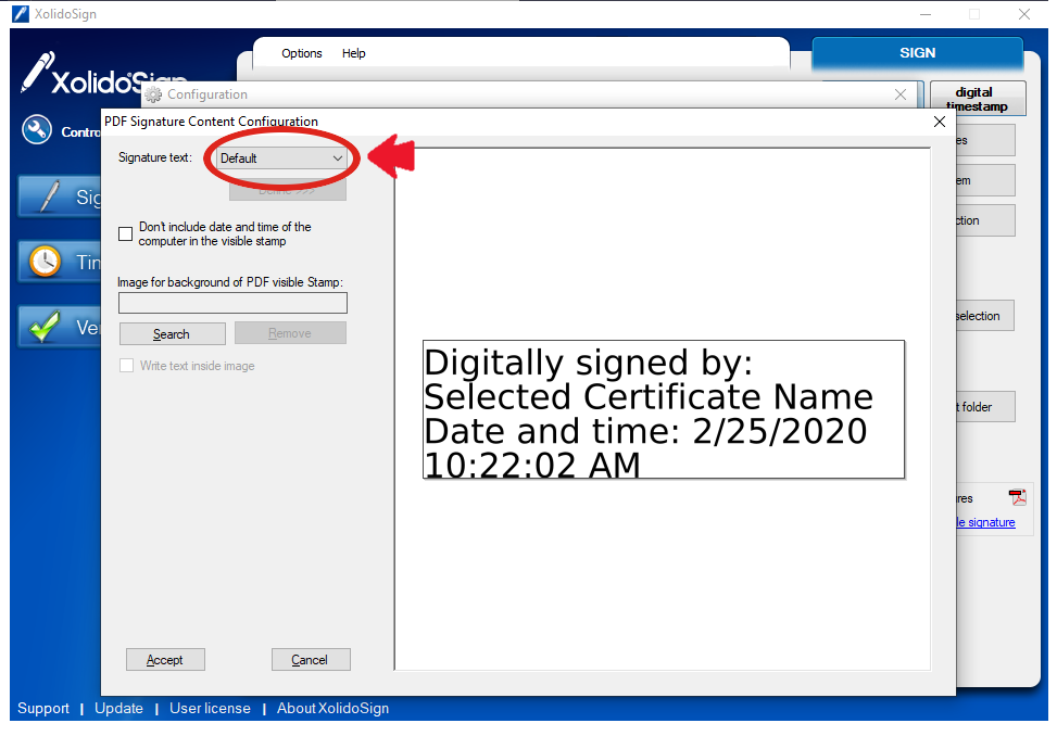 XolidoSign Desktop - Visible signature mark on PDF document